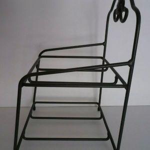Longaberger Wrought Iron Little Bin Stand Basket